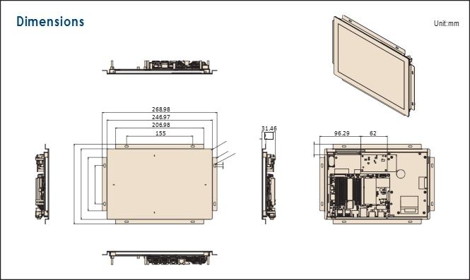 研华10.1英寸开放式平板电脑UTC-210G